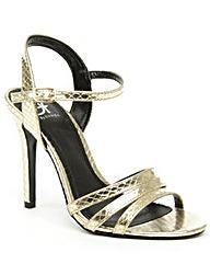 Daniel Minety Gold Reptile Sandal