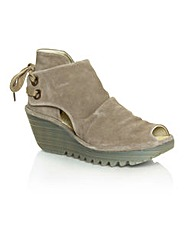 Fly Yema Taupe  Wedge Sandal