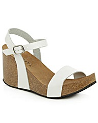 Daniel Ryther White Corked Wedge Sandal