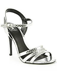 Daniel Minety Silver Reptile Sandal