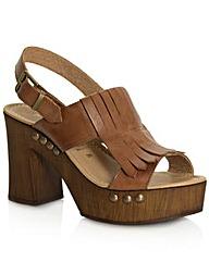 Daniel Plano Tan Block Heel Sandal