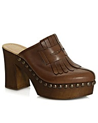 Daniel Newark Tan Fringed Clog