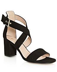 Daniel Southaven Black Block Heel Sandal