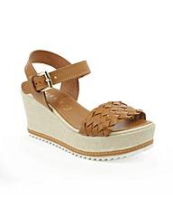 Daniel Praia Tan  Wedge Woven Sandal