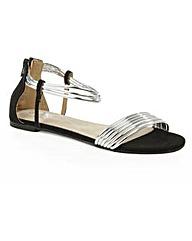 Daniel Overpool Silver Flat Sandal