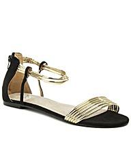 Daniel Overpool Metallic Flat Sandal