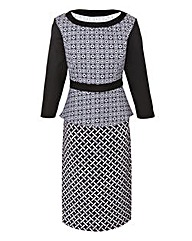 Ava By Mark Heyes Geometric Print Dress
