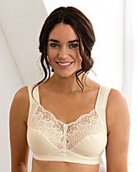 Miss Mary Cotton Non Wired Champagne Bra