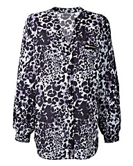 Ava By Mark Heyes Leopard Print Blouse