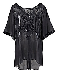 Ava By Mark Heyes Beaded Tunic