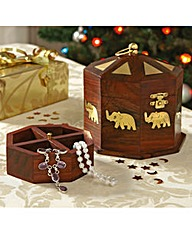 Elephant Wood Trinket Box