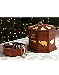 Elephant Wood Trinket Box