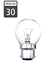 30 x 60w B22 Golf Ball Clear Light Bulbs