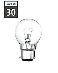 30 x 40W B22 Golf Ball Clear Light Bulbs