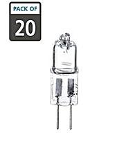 20 x 20W G4 Halogen Clear Light Bulbs