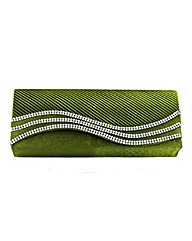 Satin Effect Evening Bag