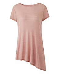 Asymmetric Glitter Top