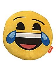 Emoji Shaped Cushion - Laughing