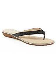 Daniel Stanlow Crystal Toe Post Sandal