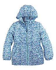 KD EDGEGirls Floral Water Resistant Coat