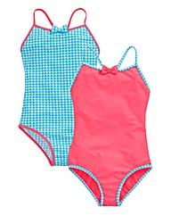 KD EDGE Girls Pack Stripe Swimsuit