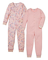 KD Edge Girls Pack of 2 Onesies
