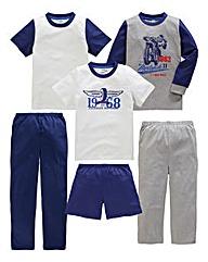 KD Edge Boys Pack of 6 Pyjamas