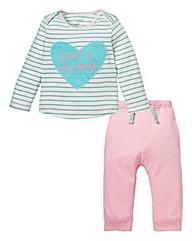 KD Baby Girl T-Shirt and Jog Set