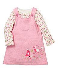 KD Baby Girl Dungaree Dress Set