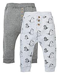 KD Baby Boy Pack of 2 Dinosaur Jog Pants