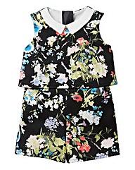 KD Girls Floral Print Scuba Playsuit