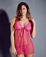 Lola Hot Pink Lace Babydoll