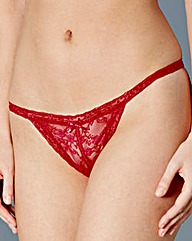 2 Pack Bella Black/Red Crotchless Thongs