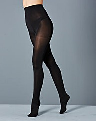 2 Pack Opaque 100 Denier Black Tights
