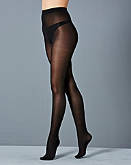 2 Pack Opaque 70 Denier Black Tights