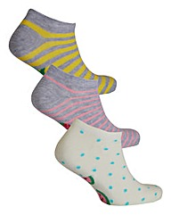 3 Pack Fruits Trainer Liner Socks