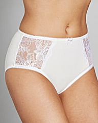 Black/White Two Pack Ella Lace Briefs