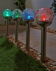 Crackle Ball Solar Stakelights