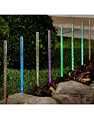 Set of 8 Bubble Solar Stake Lights