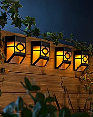 Set of 4 Solar Fence Lights