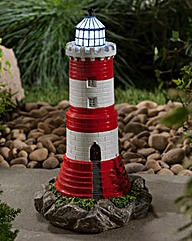 Solar Lighthouse With Flashing Light