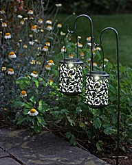 2 Shepherds Crook Solar Lanterns