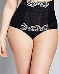 Firm Control Two-Tone Lace Briefs