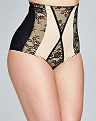 Firm Control Contrast High Waist Brief