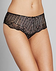 Jasmine Deco Black Lace Brazillian Brief