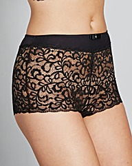 2 Pack Lottie Lace Briefs Black/White