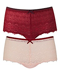 2 Pack Imogen Berry/Pink Shorts