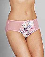 Pink Floral Maxine Mid Rise Briefs
