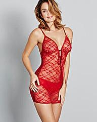 Sasha Tassel Tie Red Lace Dress