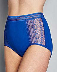 3 Pack Lace Full Fit Brief Blue/Pink